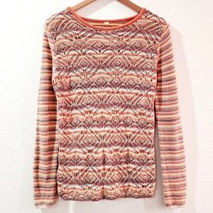 Mystree Long Sleeves Open Knit Sweater